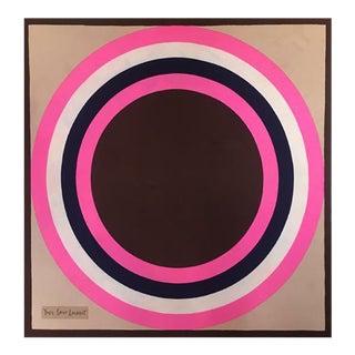 Yves Saint Laurent Vintage Geometric Abstract Print
