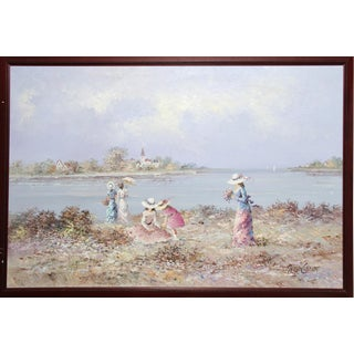 'Girls at the Beach' Oil Painting