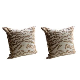 """Cowtan & Tout """"Rajah"""" in Beige Pillows - a Pair"""