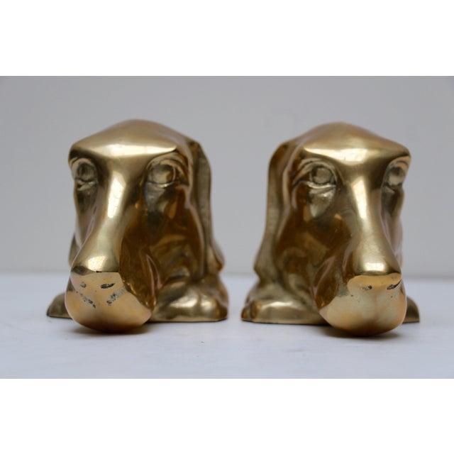 Solid Brass Labrador Bookends - A Pair - Image 4 of 8