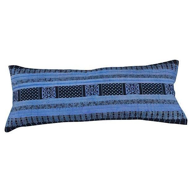 Silk Hill Tribe Indigo Textile Pillow - Image 1 of 4