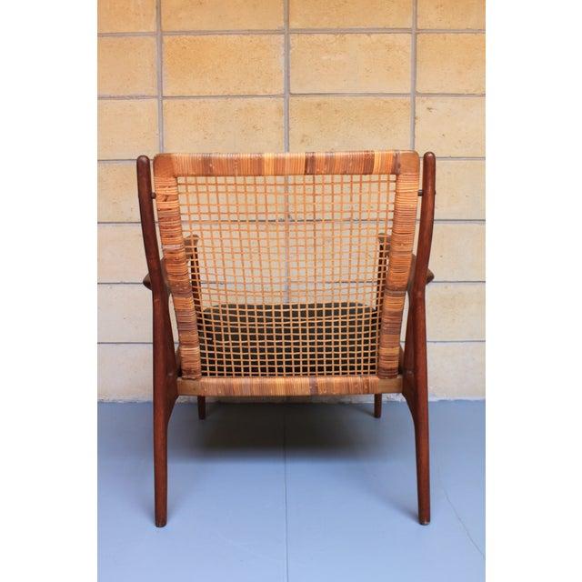 Danish Modern Cane Back Armchair - Image 6 of 8