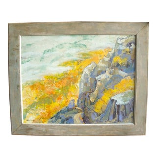 Mid-Century Plein Air Abstract Mountain Landscape