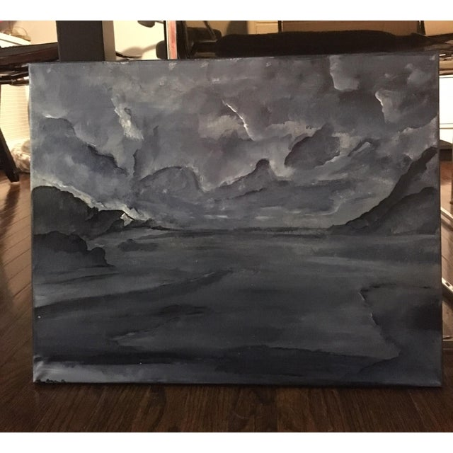 Contemporary Painting - Blue Lands - Image 3 of 3