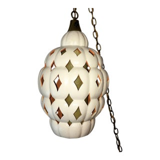 Vintage Ceramic Hanging Pendant Light