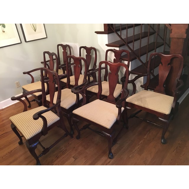 Fiddle Back Dining Chairs - Set of 8 - Image 9 of 10
