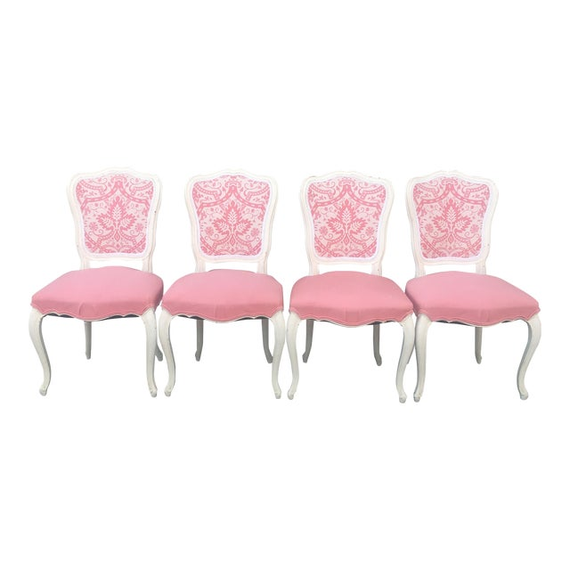 Vintage French Style Side Chairs - Set of 4 - Image 1 of 11