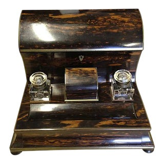 Ebony Coromandel Stationery Holder