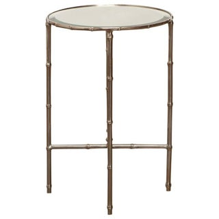 Mastercraft Nickel Faux Bamboo Round Side Table