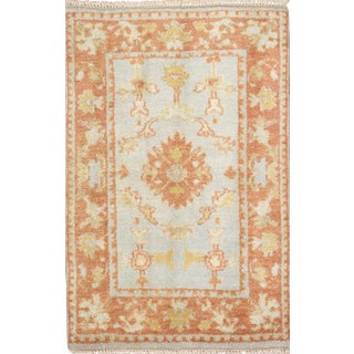 Pasargad N Y Turkish Oushak Design Hand-Knotted Rug - 2' X 3'