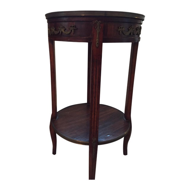 Image of Two Tier French Chairside and Lamp Table