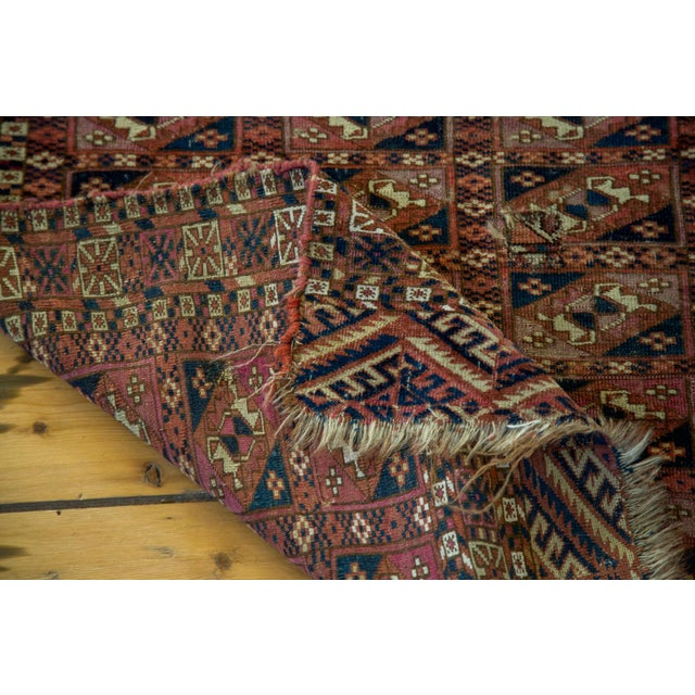 "Antique Turkmen Square Rug - 2'8"" X 3'1"" - Image 8 of 9"