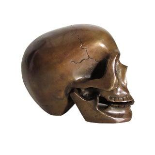 Bronze Skull Objet d'Art or Bookend