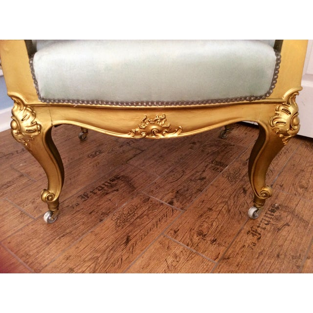 French Baroque Gilt Bergere - Image 7 of 7