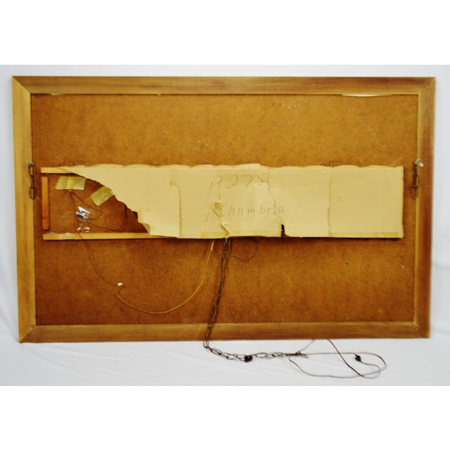 Vintage Signed Illuminated Giclee Painting on Panel - Image 9 of 9