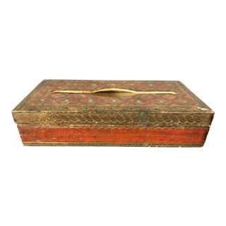 Vintage Red Florentine Tissue Box