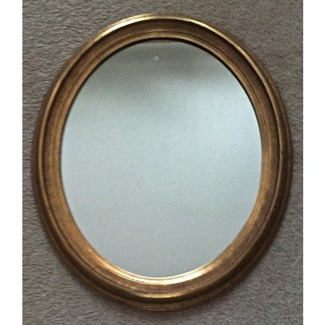 Vintage Gilt Wood Oval Mirror - Image 2 of 8