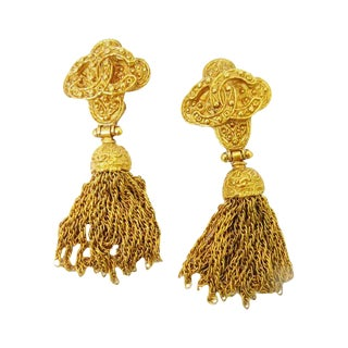 Chanel Large Tassel Earrings