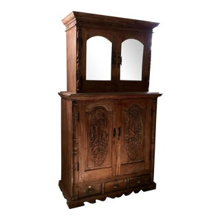 Antique Indian Carved Cupboard