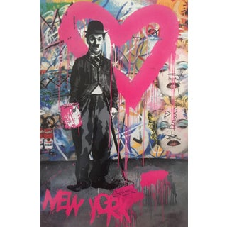 Charlie Chaplin NY Poster by Mr. Brainwash