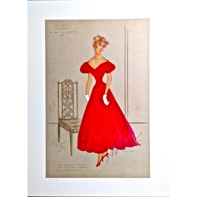 Irene & Virginia Fisher Red Evening Lithograph - Image 2 of 8