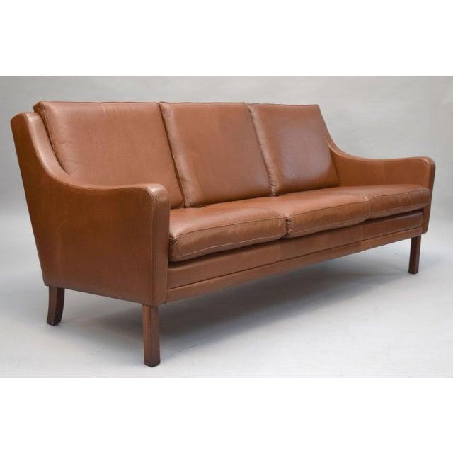 On Hold - Borge Mogensen Style Danish 3 Seater Leather Sofa - Image 2 of 10