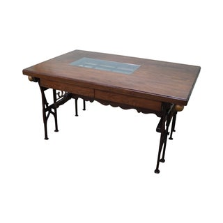 Hand Crafted Iron Base Gothic Writing Desk
