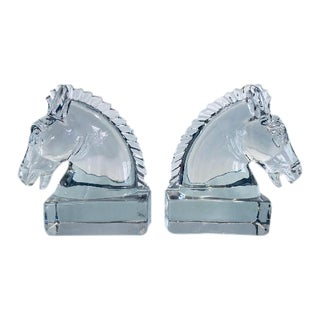 Crystal Equestrian Bookends - A Pair