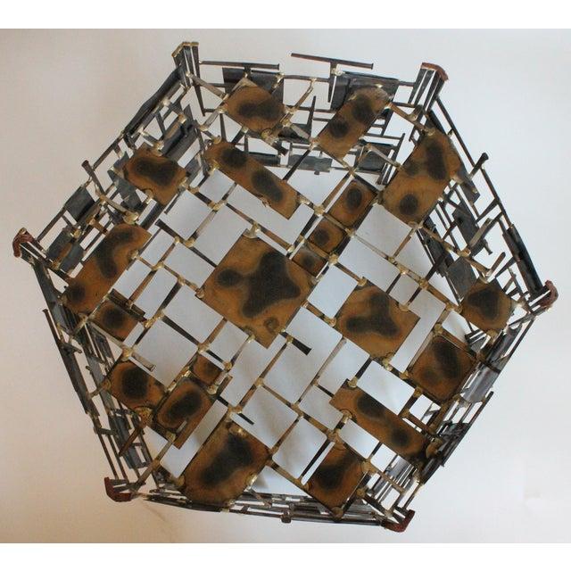 Marc Creates Vintage Brutalist Metal Coffee Table - Image 5 of 8