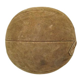 Vintage Suede Leather Medicine Ball