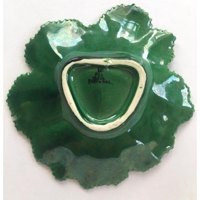 Vintage Portuguese Majolica Leaf Plate - Image 6 of 10