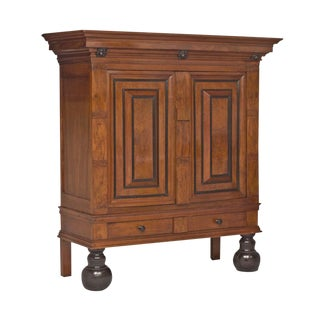 Baroque Walnut Kas / Armoire, Low Countries