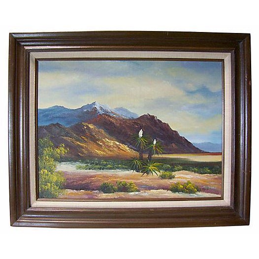 Image of California Yucca Landscape Painting by Leo Koll