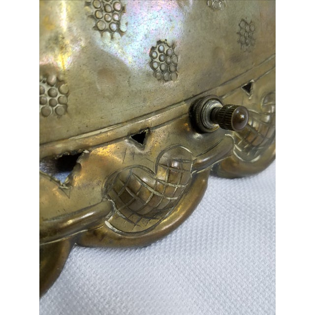 Middle Eastern Ornate Brass Wall Sconce Chairish