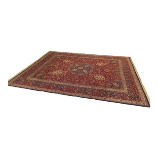 Wool Sarouk Room Size Rug - 12′2″ × 15′9″