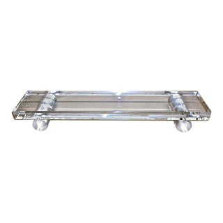 Large Clear Rod Lucite Tray