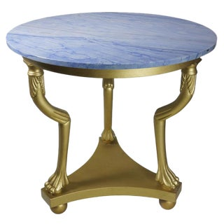 Empire Center Hall Table With Blue Marble