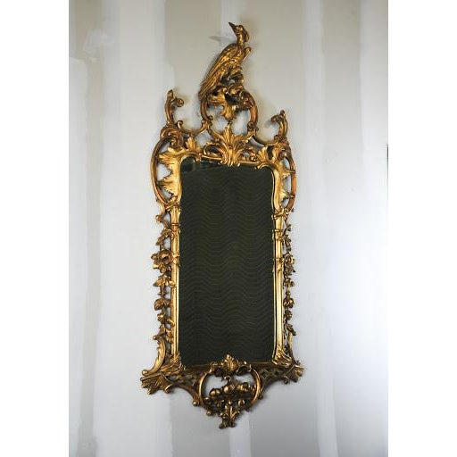 Antique Rococo Phoenix Crested Mirror - Image 2 of 11