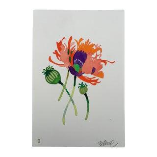 """""""Sherbet Poppies"""" Original Watercolor"""