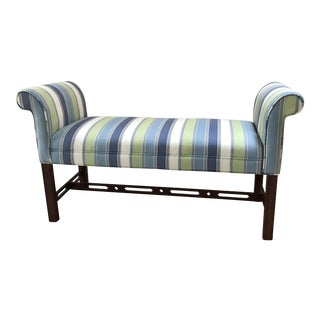 Ethan Allen Georgian Upholstered Bench