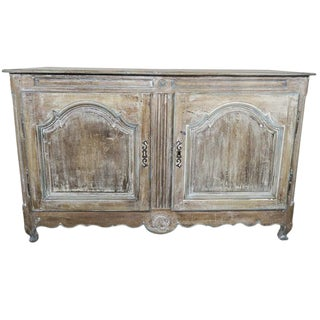 19th Century French Walnut Painted Buffet