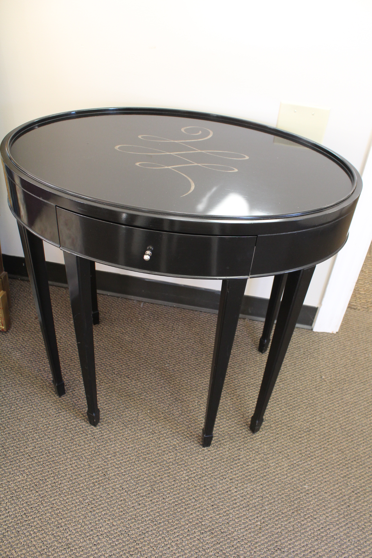 Barbara Barry For Baker Oval Side Table   Image 2 Of 6