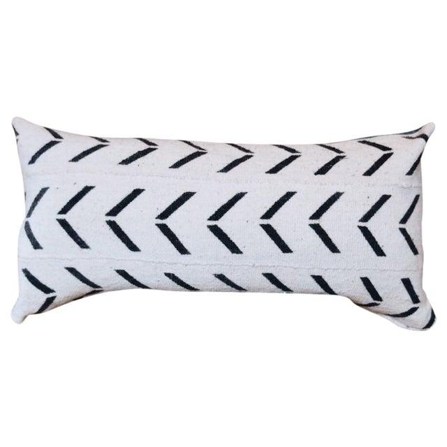 African Indigo & Mudcloth Lumbar Pillow - Image 1 of 4