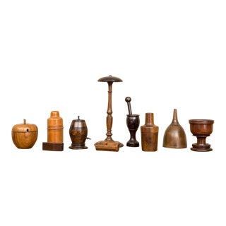 Collection of Ten Pieces of Treenware, English, circa 1830