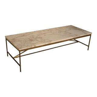Paul McCobb Brass & White Marble Table