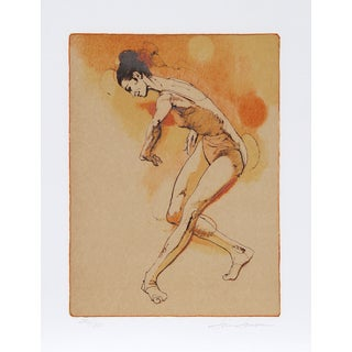 "Jim Jonson, ""Female Dancer,"" Lithograph"