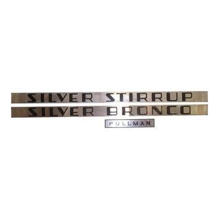 Original Silver Stirrup, Silver Bronco And Pullman Nameplates: California Zephyr Vista Dome Train Coaches