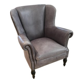 HD buttercup Vintage Style Leather Chair