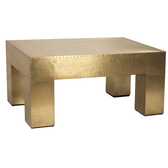 Image of Sarried Ltd Sheet Brass Coffee Table