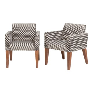 A Pair of Jean Michel Frank Style Upholstered Chairs 1940s